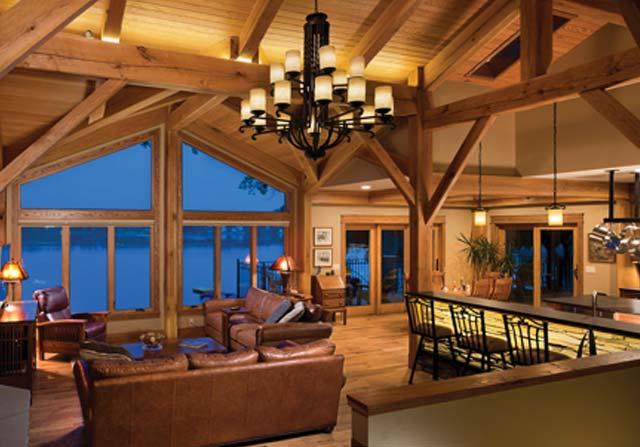 Custom Timber Framing - custom timber home