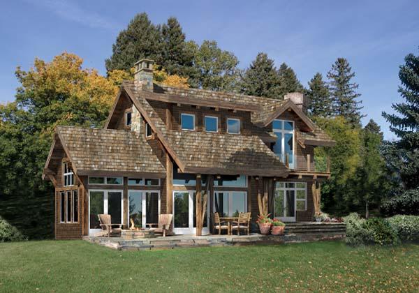 Craftsman Timber Frame Homes - Craftsman Timber Frame Plan