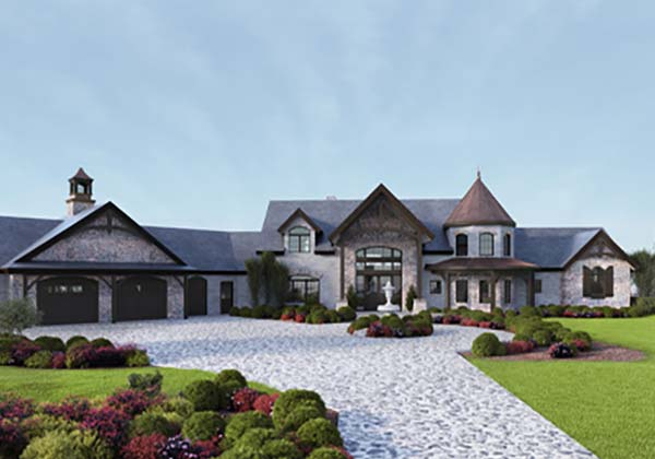 European Style Timber Homes - French country timber floor plan