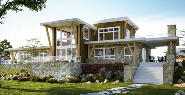 Modern Timber Frame Homes - modern timber homes