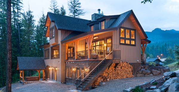 Mountain Style Timber Homes - timber frame mountain home