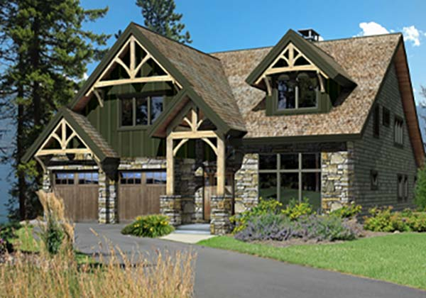 Mountain Style Timber Homes - mountain style floor plan