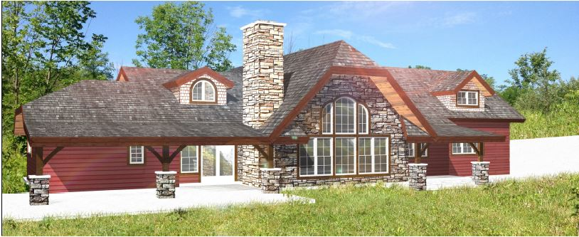 timber home rendering ohio