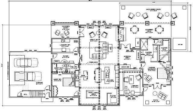 floor plan custom timber frame home