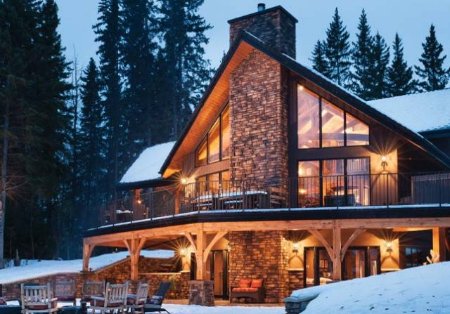 Mountain style timber frame home
