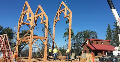 Timber Frame Raisings - Timber Frame Raising