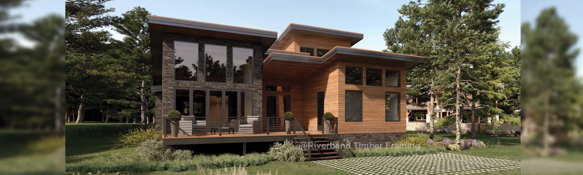 modern timber cabin