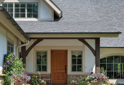 North Georgia – entry - timber frame entryway