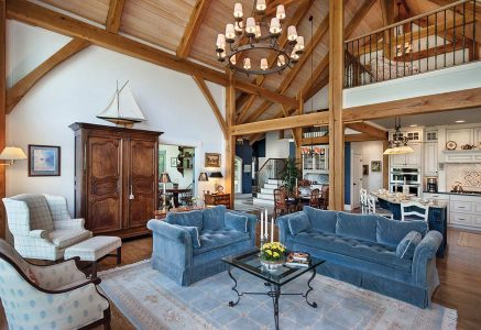 North Georgia great-wide - timber great room