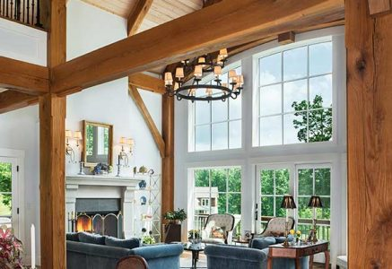 North Georgia – vert great room - timber frame great room