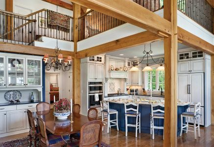 North Georgia – - timber frame kitchen