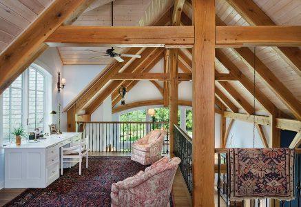 North Georgia Loft - timber frame loft