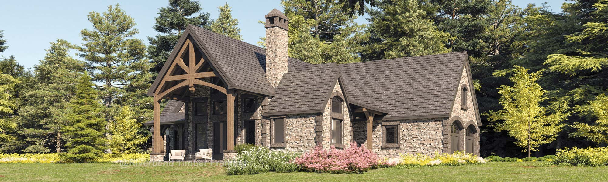 french country single level retirement floor plan