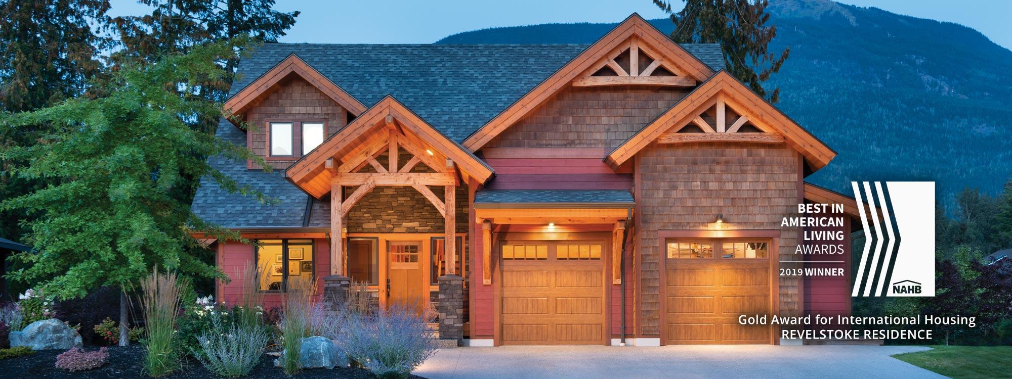 Riverbend Timber Frame Homes - Timber home design award