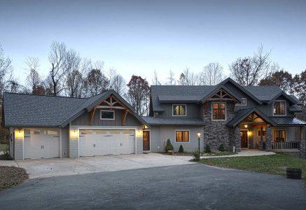 Murrysville-exterior - Pennsylvania timber home exterior