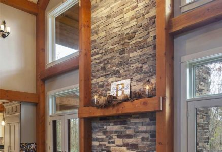 Murrysville-fireplace - timber frame fireplace