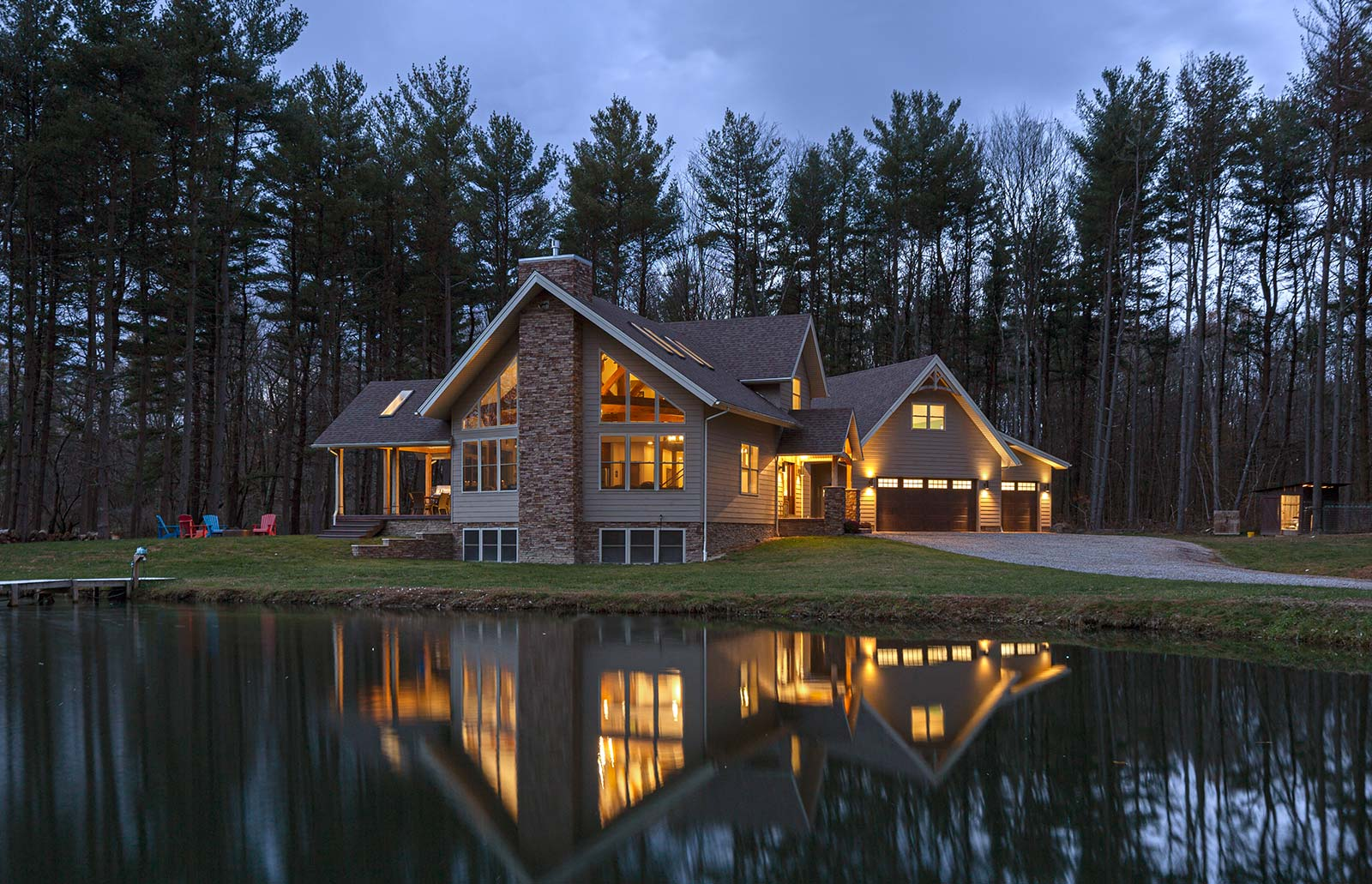 Pennsylvania Timber Home-blending styles