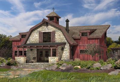 Barlow modern timber barn plan