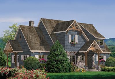 Greenbrier timber cottage plan