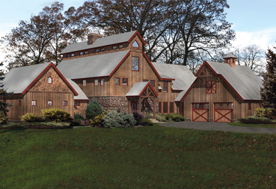 Lancaster barn home floor plan