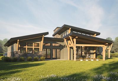 Madrona modern timber plan