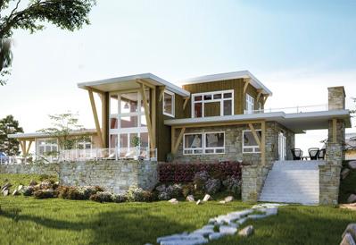 Newport timber frame home