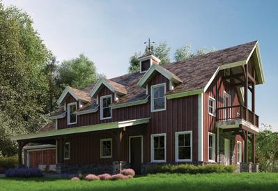 Stafford timber barn plan