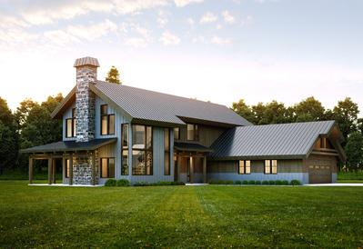 farmhouse style-corner glass