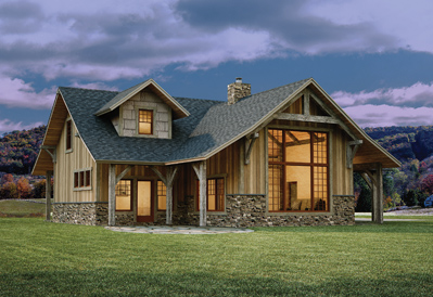 appalachian style timber home
