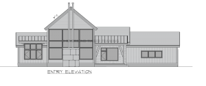Cottonwood - Entry elevation