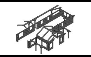 Hawk Mountain - log siding and timber frame