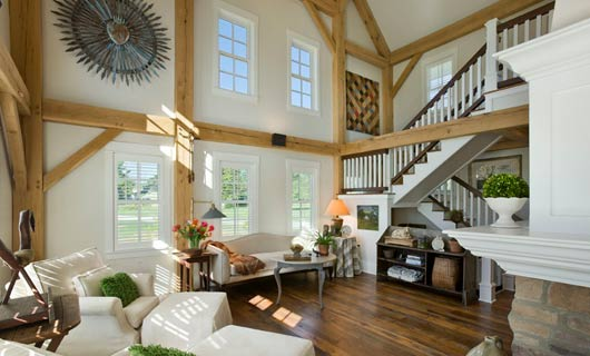 Builders & Architects - Barn Style Home Timbers