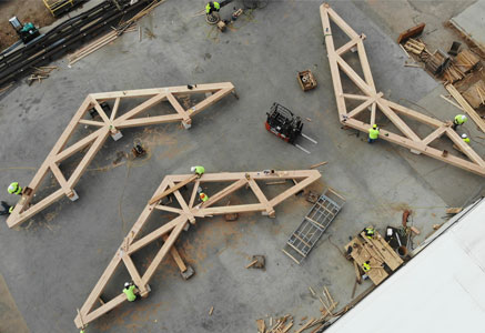 Custom Large Timber Trusses
